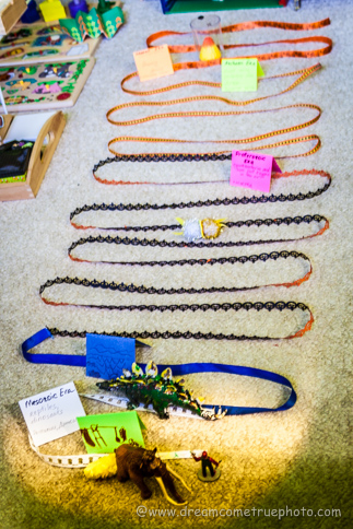 Geology Timeline with Ribbons